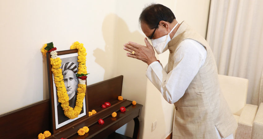 Chief Minister Mr. Chauhan pays tribute to Mr. Bankim Chandra Chatterjee