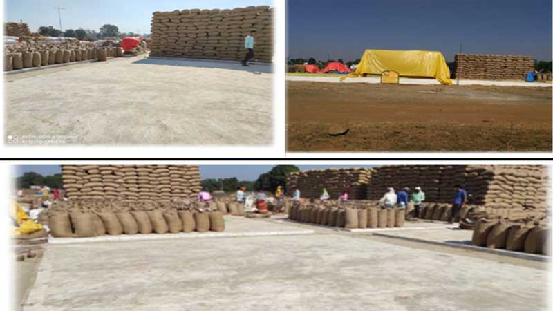 NREGA, for the first time in the country, concrete platforms are being built for storing grains